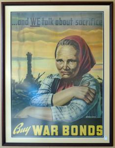 Original War Poster 31x43 framed / $300