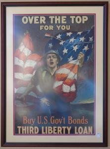 Original War Poster 24x33 framed / $650